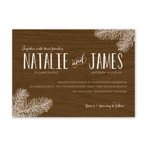 Woodsy Wedding Invitation by Jamber Creative