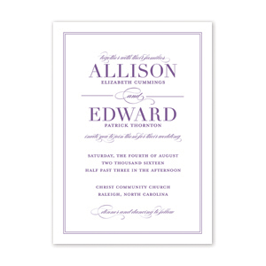 Tailored Wedding Invitation by Jamber Creative