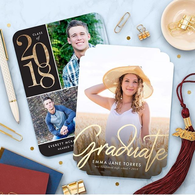 Graduation vibes over at @simplytoimpress. This full bleed design was one of my favorites to create! #graduation #graduationannouncements #graduationinvitations #seniorpictures #seniors #graduate #stationerydesigner #simplytoimpress #jessicawilliamspaper