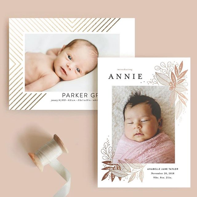 Christmas is just around the corner, but babies come year-round! My Broadway birth announcement is featured on @minted today with this beauty from Alethea and Ruth. #goldfoil #stationery #birthannouncement #newbaby #babylove #stationerydesigner #snailmail