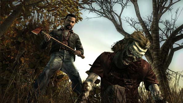 """The Walking Dead videogame by Telltale games (not to be confused with the awful """"Survival Instinct"""" game), follows the stories of Lee Everett (shown above) & a little girl named Clementine trying to survive after the zombie apocalypse."""