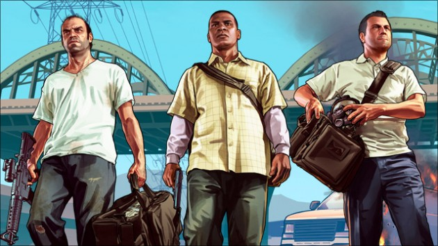 Grand Theft Auto V features three very different main characters that you can switch from at any time once they are unlocked.