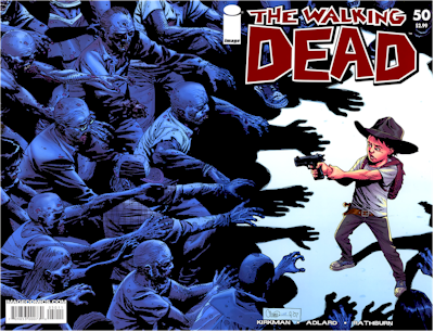 In the Walking Dead Comic Book Series, Carl is a bad-ass instead of a bad child.