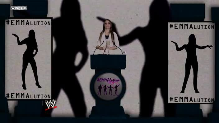 Not sure if Emma is cutting a promo or asking us to exterminate the Jewish community.