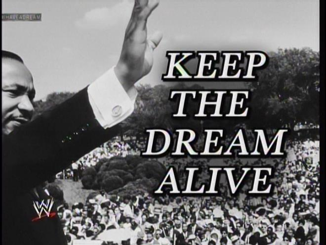 """Keep The Dream Alive.""  It's a bit too late for that.  Just check your local Craigslist, where race relations are set back about 50 years due to all the prostitution."