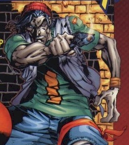 Skin Real Name: Angelo Espinosa First Appearance: Uncanny X-Men #317 (1994) Mutant Powers: Generates extra skin which he can control. In other words the ultimate foreskin.