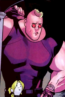 Strong Guy Real Name: Guido Carosella First Appearance: New Mutants #29 (1986?) Mutant Powers: Turns kinetic energy into super-strength.