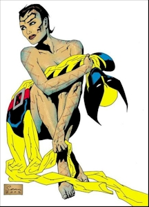 Stacy X Real Name: Miranda Leevald First Appearance: Uncanny X-Men #399 (2001) Mutant Powers: Pheromone control allowing her to make people climax and/or vomit.