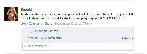 """Yet another example of the misuse of the word """"bullying."""" Brilliant, Snooki!"""