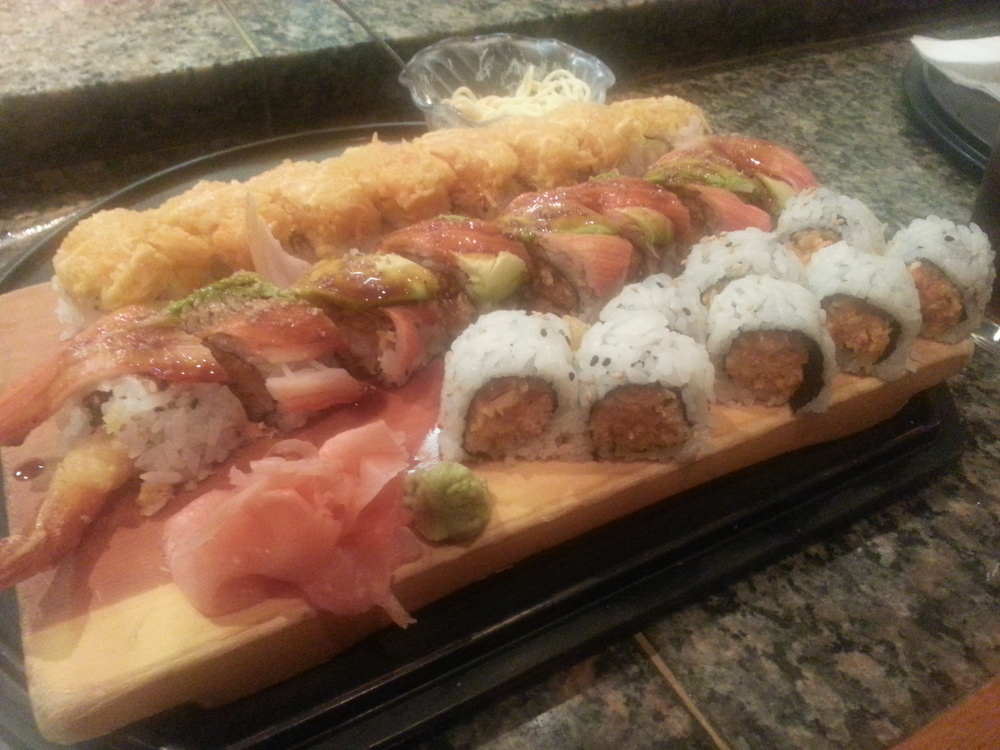 Sushi - it's what Riv likes! ***DISCLAIMER: RIV IS NOT A WHITE GIRL