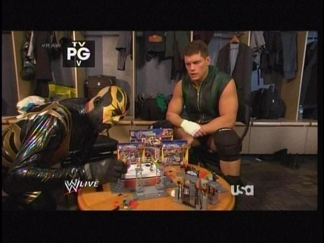 Grown men playing with action figures is not socially acceptable. WWE just wants you to believe that because fat virgins in their 40s buy more action figures than kids do.