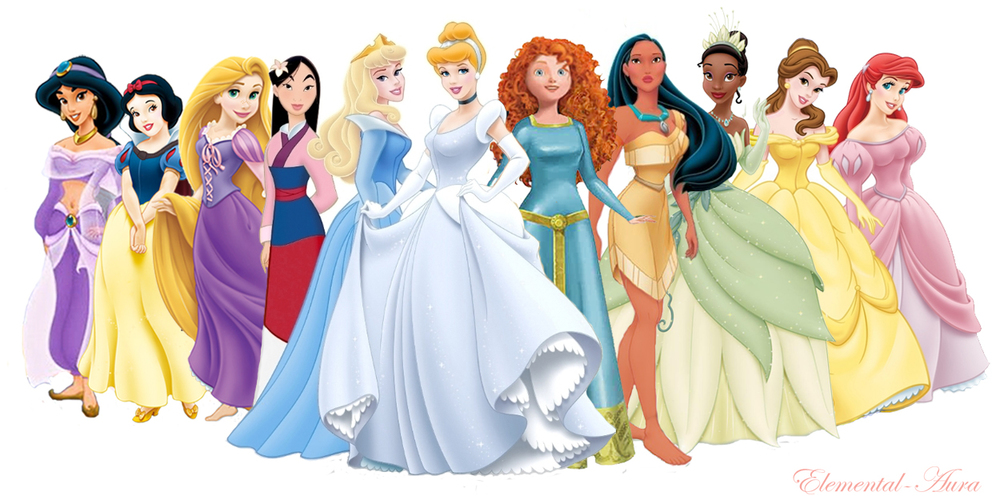 "Above: The Disney Princesses come in different ethnicities and backgrounds but not in different size & shape - our question is ""who the hell had the time to nit-pick about it?"""