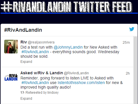 The #RivAndLandin tag's value goes up as chat rooms are made obsolete via Social Networking.