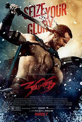 Above: Sullivan Stapleton portrays the protagonist of the 2nd film, Themistokles, and yes that name is much harder to spell or remember than Leonidas.