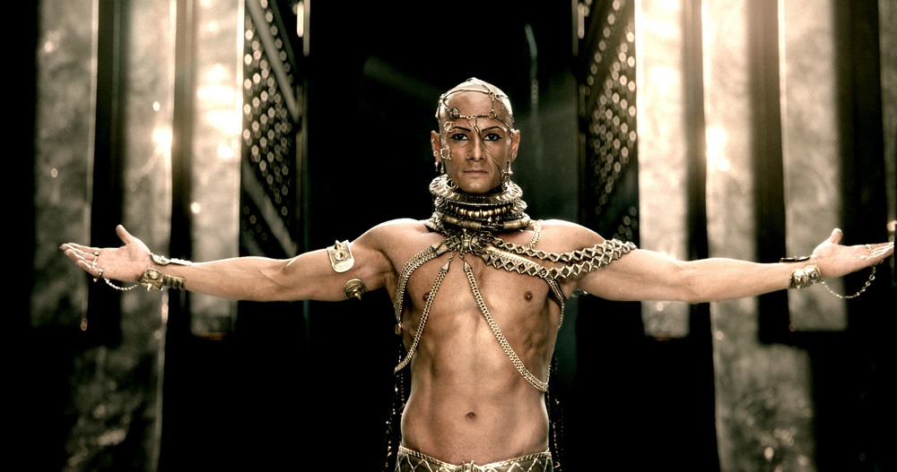Rodrigo Santoro as Xerxes, who I assume is history's first true homosexual.
