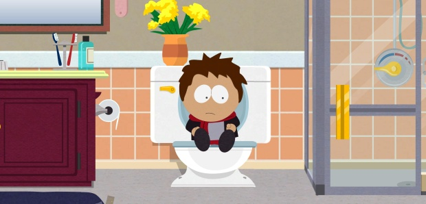 South Park: TSOT might not be the first game to let you take a dump but it's probably the first game to let you then take your dumps out of the toilet and fling them at your enemies.