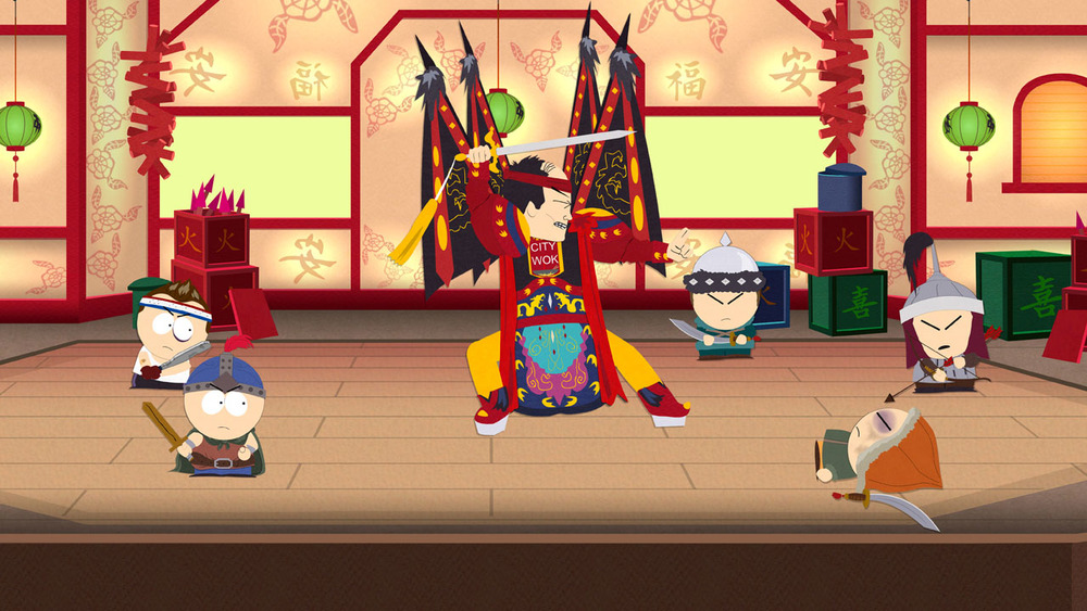 Beating up Mongolian Children is an entire side-mission in South Park: TSOT.