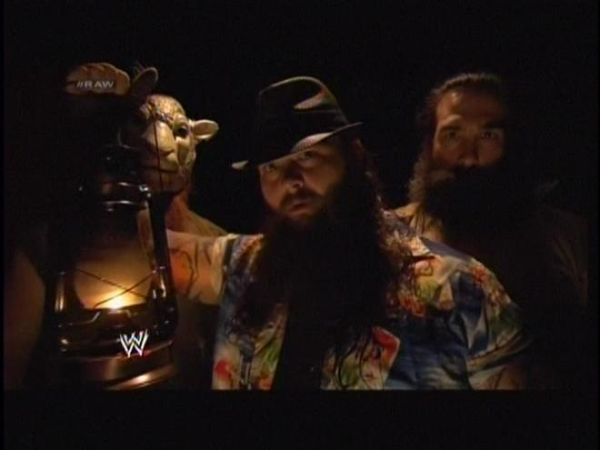 """The Wyatt family is here. It's basically """"Shawn Michaels has left the building"""" but in reverse."""