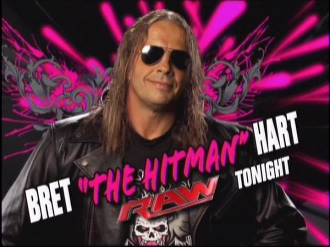 TONIGHT ON RAW: We just want to remind you Bret Hart isn't physically dead yet; he's only dead inside.
