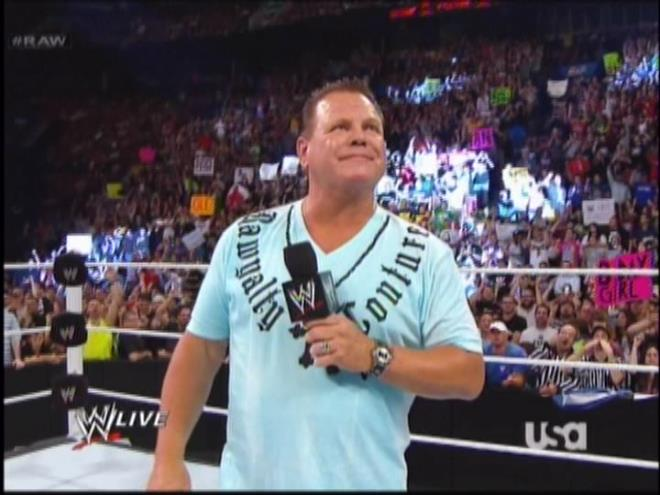 I wonder who is going to inherit Lawler's collection of ugly shirts when he dies and stays dead.