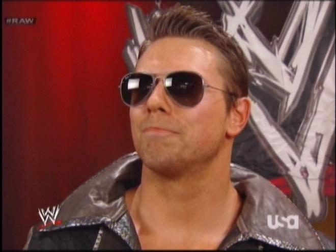 I wonder if the Miz stole those sunglasses from the Big Boss Man's grave.