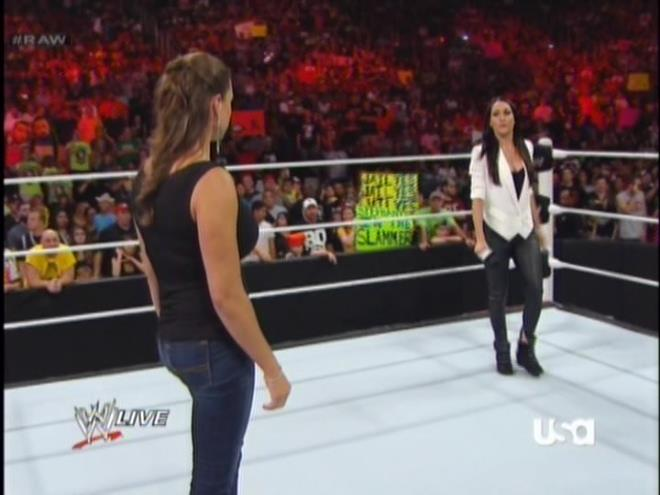 AJ Lee isn't the only one who lost her ass.  Those jeans do Stephanie zero favors.