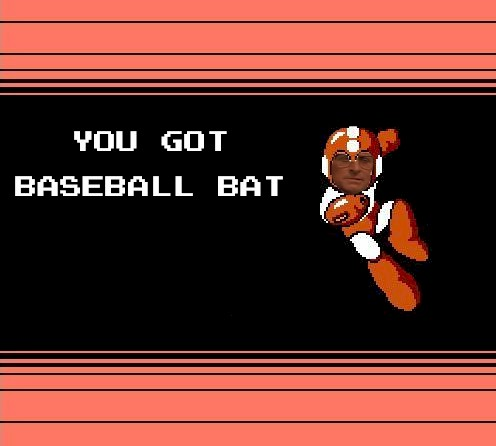GET EQUIPPED WITH BASEBALL BAT.