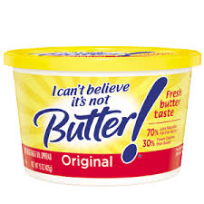 "IT SAYS RIGHT THERE: ""IT'S NOT BUTTER."""