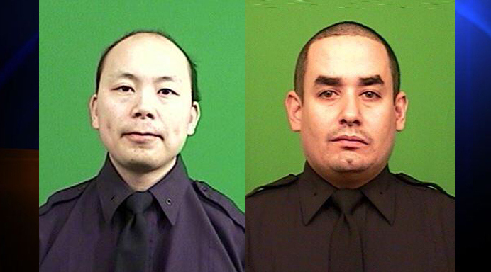 RIP Officers Liu and Ramos who were the victims of tragedy and unwarranted, unjustified murder. THEIR lives matter as much as anyone else's and it's sick that anyone on the Internet would cheer the loss of these good men on.
