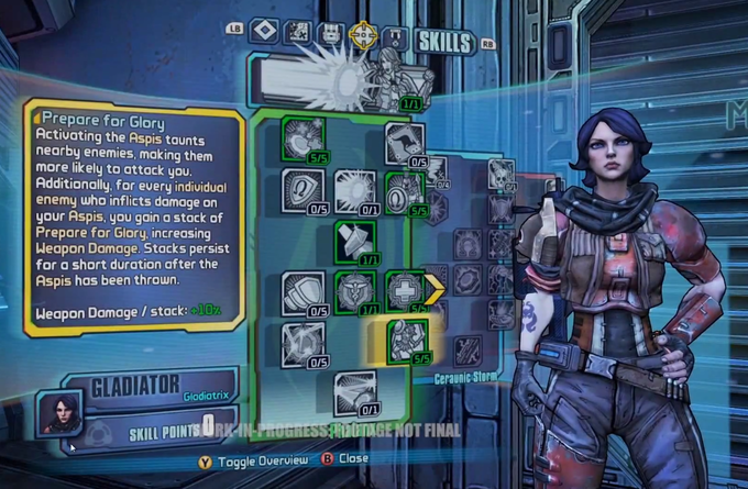 Skill Trees still allow for infinite combinations of abilities for characters.