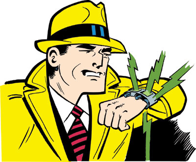 Dick Tracy also wore bright ass yellow flasher clothes. But that doesn't seem to be coming in style, now is it?