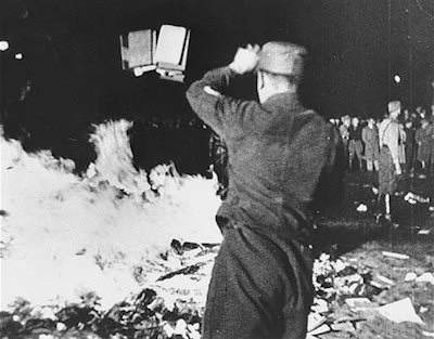 Nazis burning books. Now radical progressives on the Internet want to do the same.