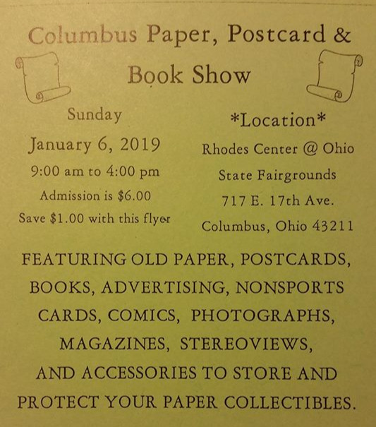 (Picture from the Facebook page of the Columbus paper Show)