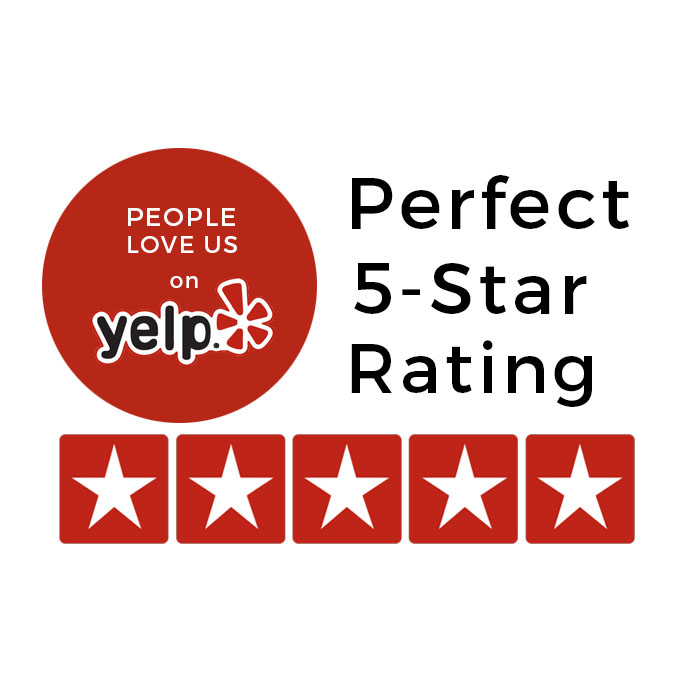Yelp has given us a perfect 5 Star rating so you know our business is credible, trusted, and aims for perfection with each wonderful session we do.