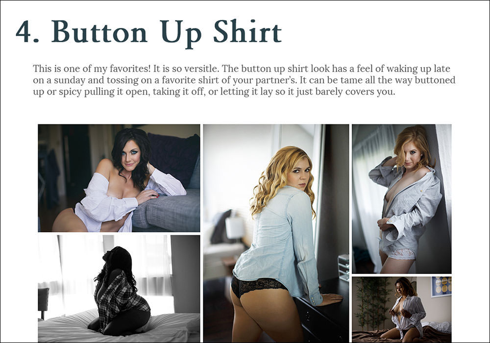 Button Up shirt boudoir ideas
