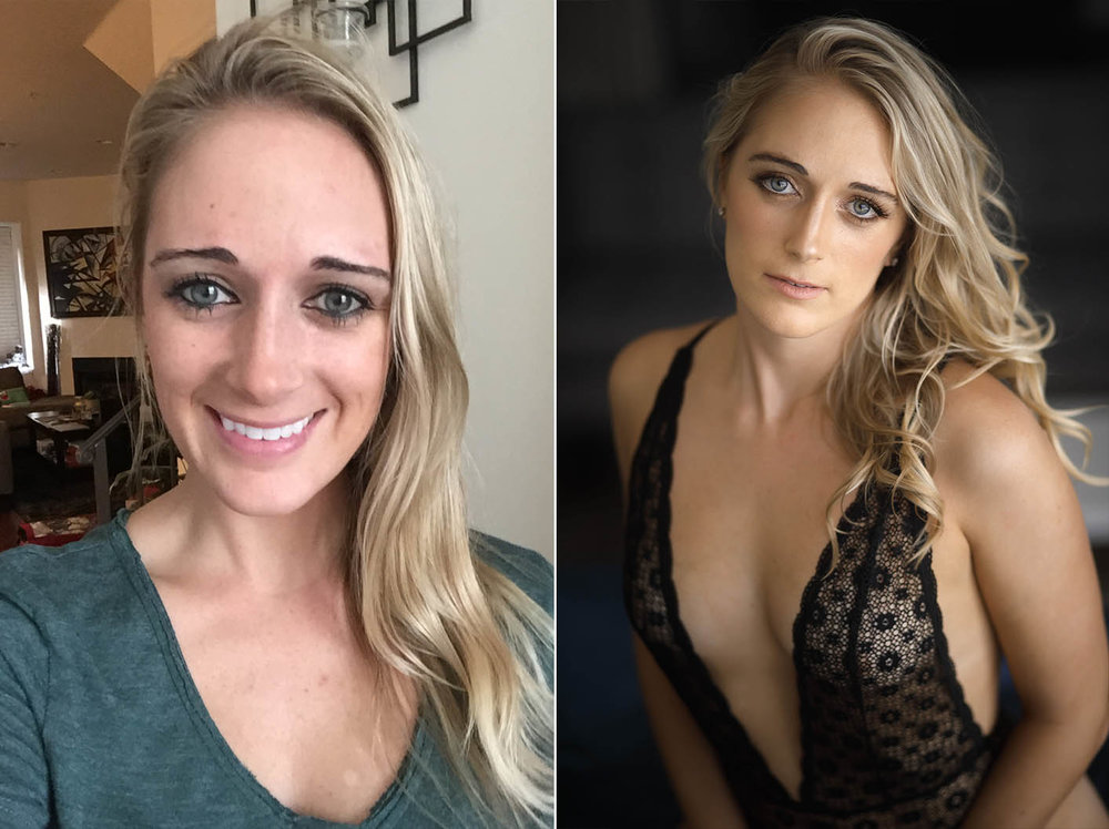 Boudoir Photo Session Transformations in LA
