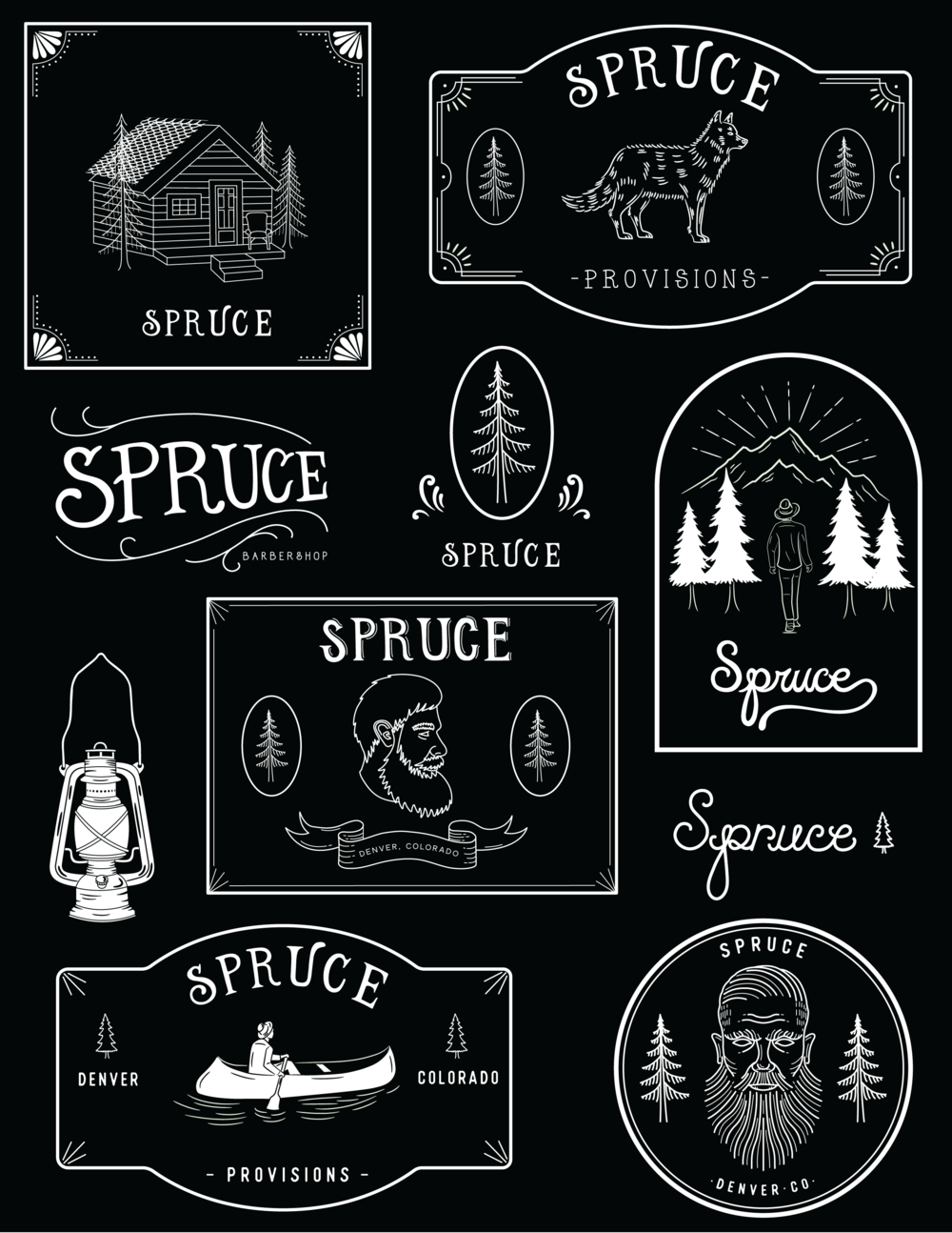 Logo designs for Spruce