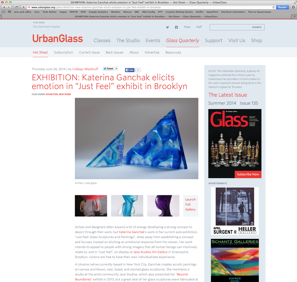 Glass Quarterly See Article Here
