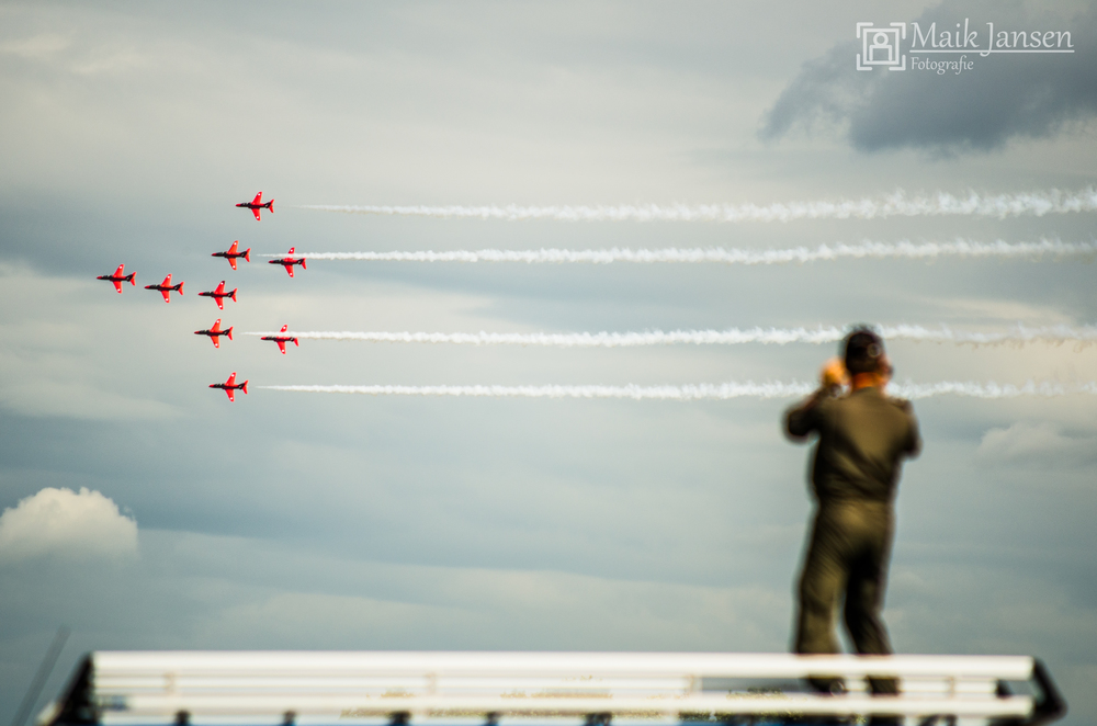 Filming Red Arrows.