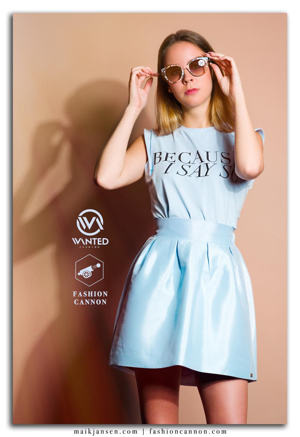 Model: Ilaya Zomerschoe Styling: Kiki Starrenburg Boetiek: Wanted Fashion Zonnebril: Van Tiem Optiek Fashion label: JoshV