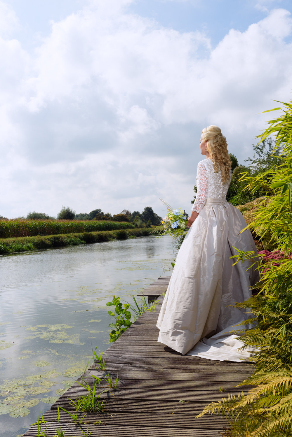 Bride at the waterside