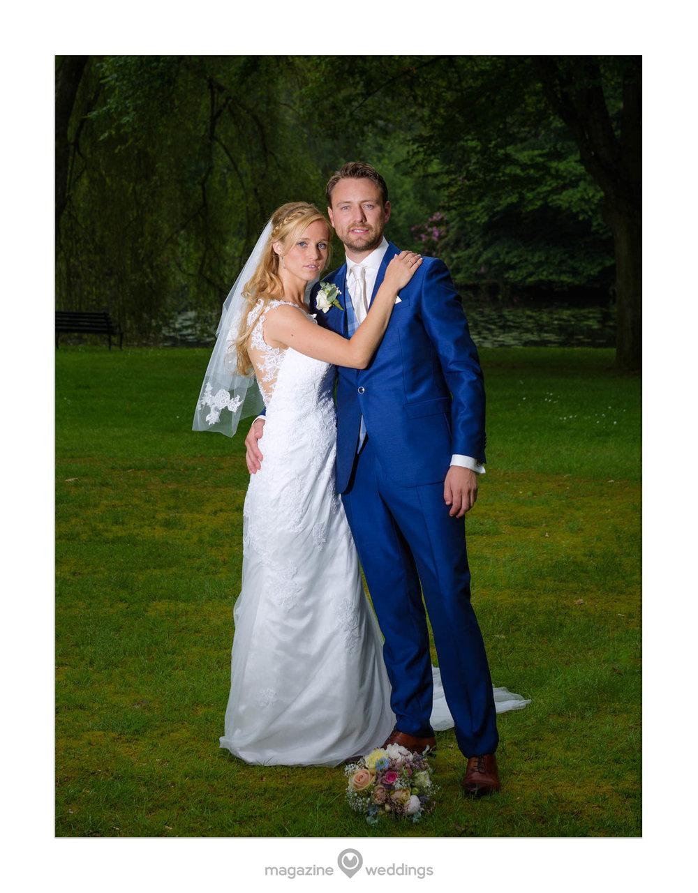 Dit is een van mijn favoriete foto's van Joep en Mariska die op Landgoed Huize Bergen te Vught trouwden.