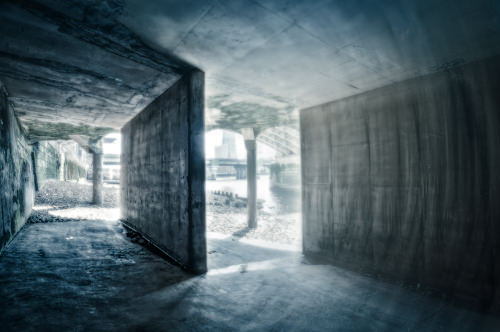 Five shot panoramic under the 'concrete trap of doom'