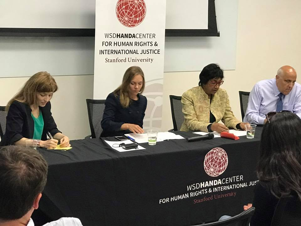 Assessing Responses to Gender-based Violence in Conflict with Navi Pillay, Handa Center for Human Rights and International Justice, Stanford University, April 2017