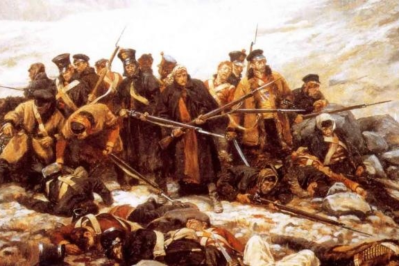 Last stand of the 44th at Gandamak, painted by William Barnes Wollen