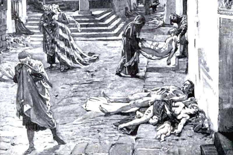 The Black Death in Italy