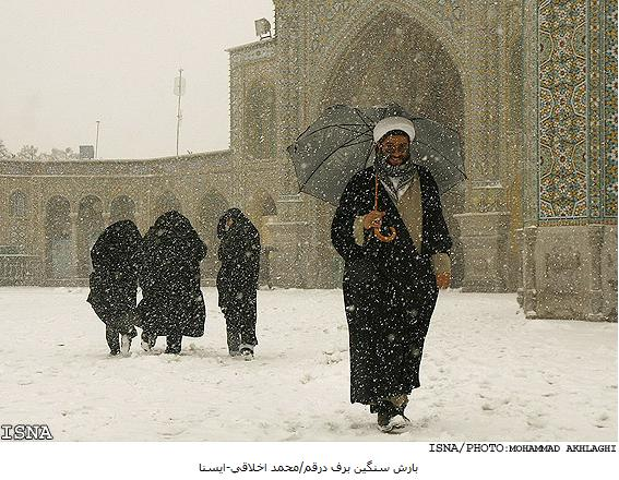 snowfall in iran