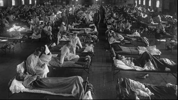 Flu victims at Fort Riley