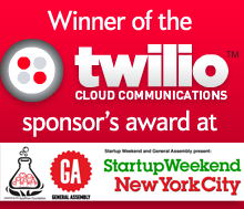 Winner of the Twilio Sponsor's award at Startup Weekend New York City.