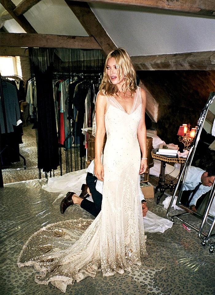 Kate Moss in customJohn Galliano.
